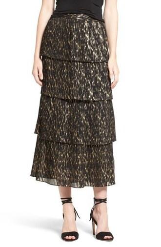 skirt olivia palermo midi skirt pleated skirt