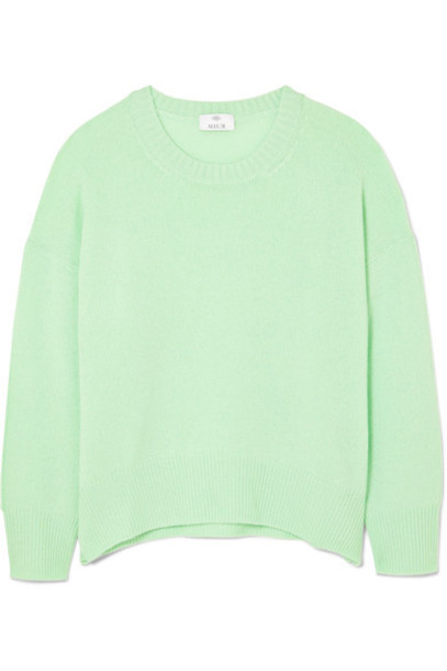 Allude sweater light green