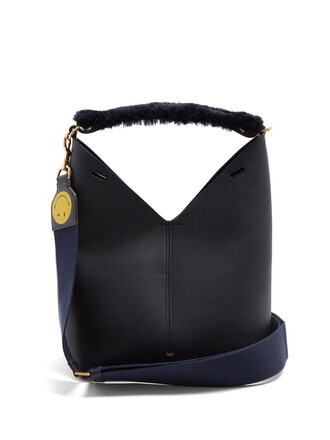 bag leather navy