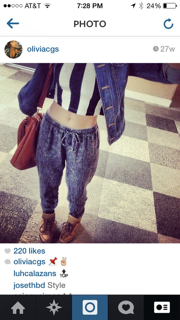 jeans baggy denim pants top