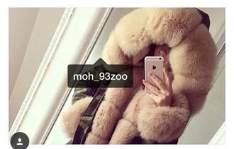 coat fur fur coat camouflage camo jacket luxe baddies