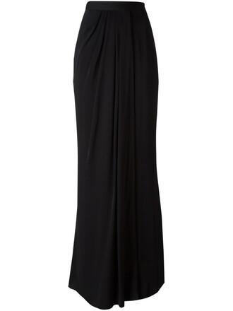 skirt maxi skirt maxi women black silk