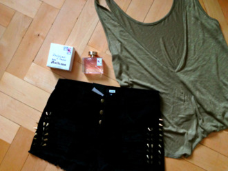 shirt lose green military style army green