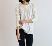 top,henley sweater