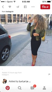 coat,jacket,khaki,bomber jacket,army green jacket,khaki bomber jacket,green,fashion,tumblr,fashion killa,green bomberjacket,bag,little black dress,high heels,sexy dress,green bomber jacket,blouse,green jacket,olive green