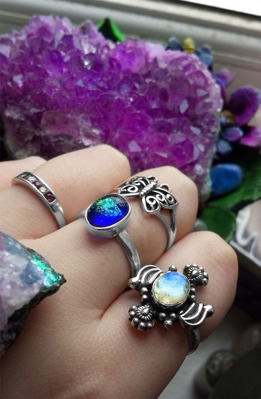 jewels rings blue silver rings silver rings mood ring royal blue stone rings