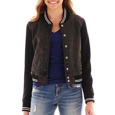 Arizona denim fleece bomber jacket