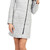 SOIA & KYO FITTED GREY WOOL WINTER COAT WITH LARGE COLLAR | Emprada