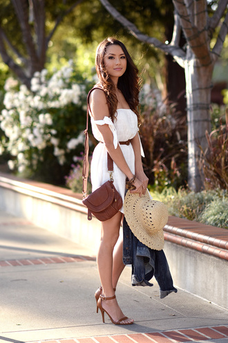 jessica r. hapa time - a california fashion blog by jessica blogger dress jacket shoes hat bag