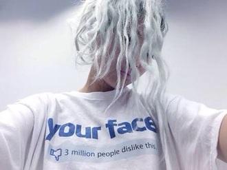 shirt white blue tumblr