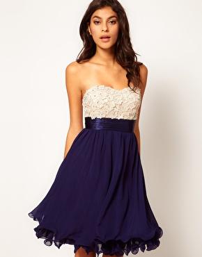 Little Mistress | Little Mistress Floral Applique Prom Dress at ASOS