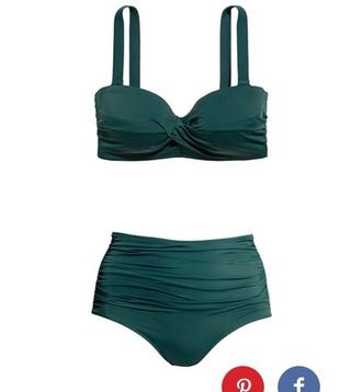 swimwear bikini green swimwear