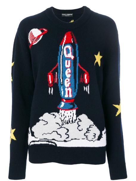 Dolce & Gabbana jumper women blue wool sweater