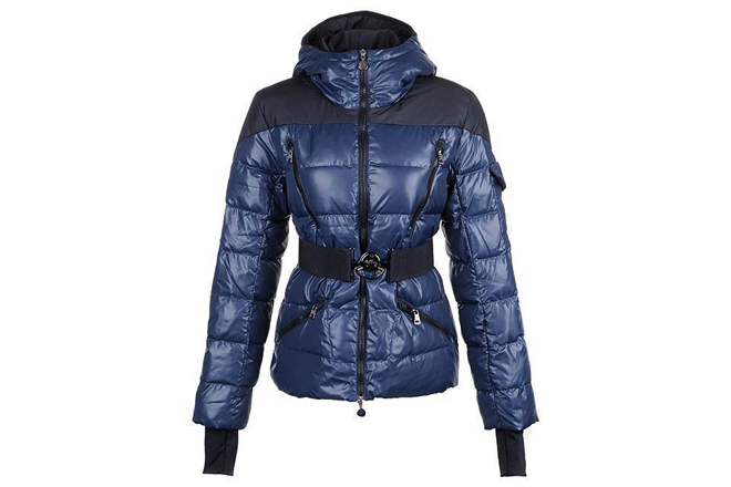 Moncler Women Ski-jacket Down Jackets Dark Blue