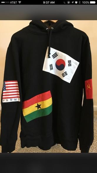 sweater supreme flags hoodie