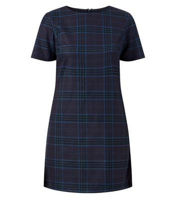 Navy Tartan T-Shirt Dress