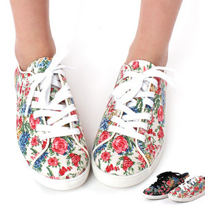 Womens Round Toe Floral Pattern Eyelet