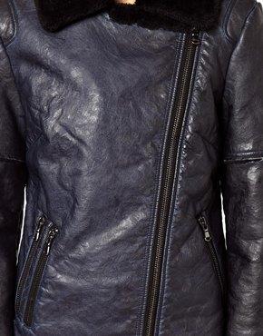 ASOS | ASOS – Jacke aus gebondetem Leder und PU bei ASOS