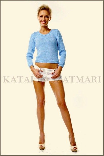 sweater blue sweater fitted sleeved sweater knitted sweater mohair sweater viscose sweater stretchy sweater long sleeves