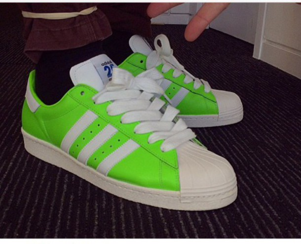 adidas superstar neon green