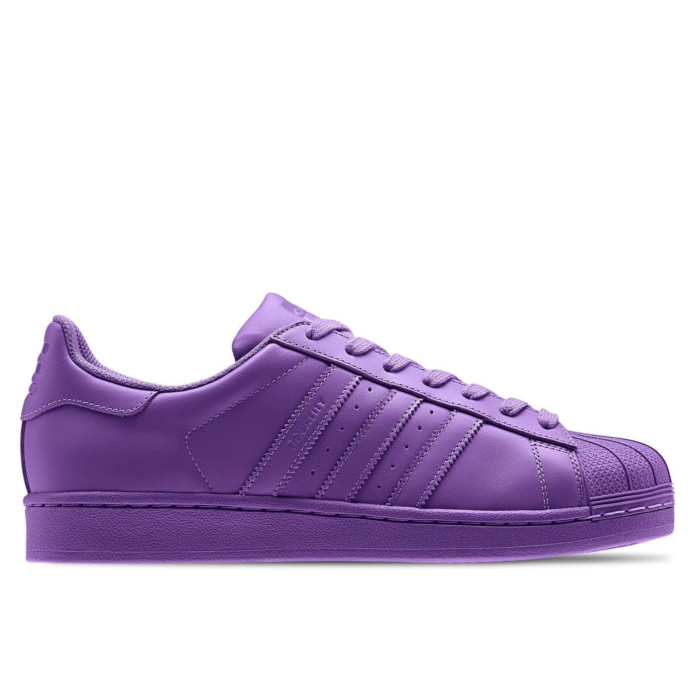 cheap for discount bc6c0 3d0ac adidas x Pharrell Williams Superstar Supercolor Purple - UEBERVART