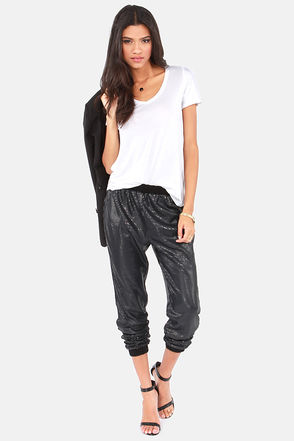 Gentle Fawn Rocha - Black Pants - Sequin Pants - Slouch Pants - $93.00