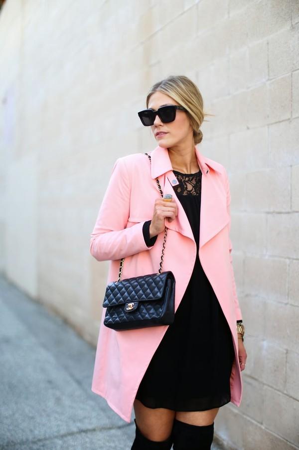 devon rachel dress coat shoes sunglasses bag jewels