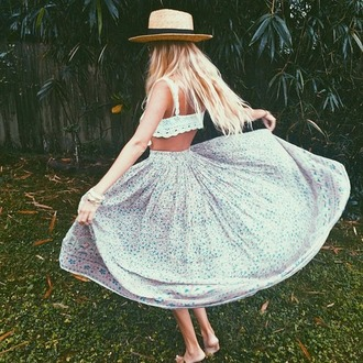 skirt white dress tumblr skirt flowers skirt summer flowy skirt liberty