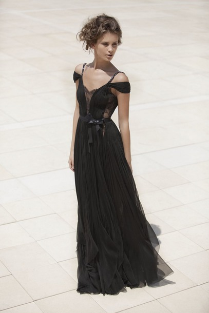 Dress Chlothes Black Prom Long Lace Girl Wedding Pretty
