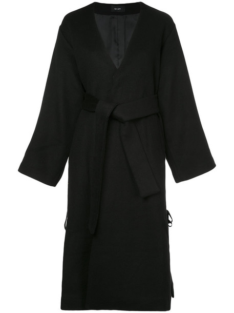 coat women lace black wool