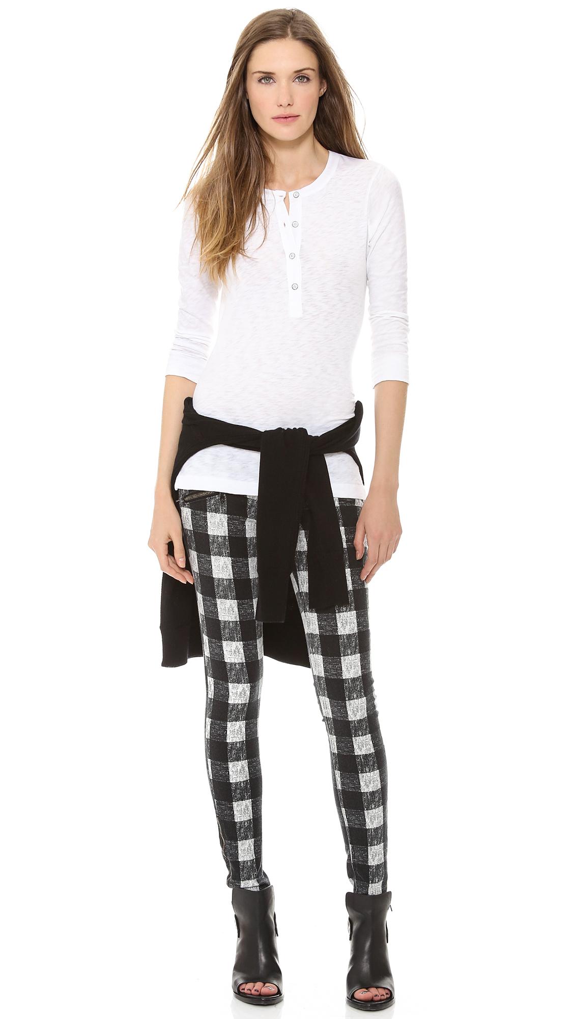 Rag & bone/jean rbw 23 zipper jeans