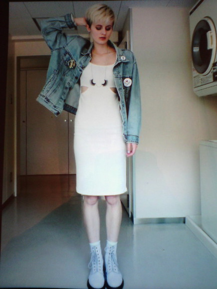 jeans jacket jacket jeans white dress dr.martens