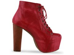 Jeffrey campbell lita in red distressed at solestruck.com