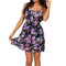 Navy flounce top floral dress