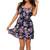 Navy Flounce Top Floral Dress   Emprada
