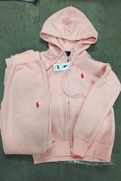 sweater,zip hoodie,ralph lauren polo,ralph lauren sweatsuit,light pink,sweatpants