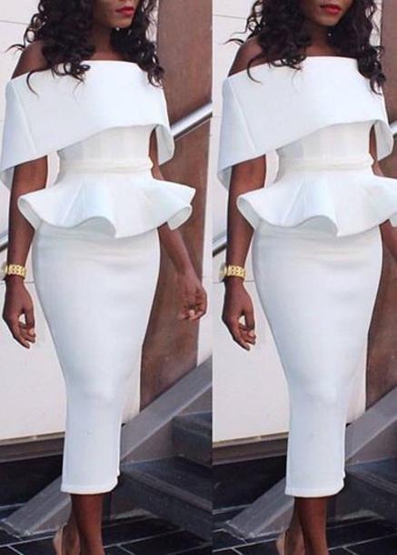 dress white dress off the shoulder dress vintage white