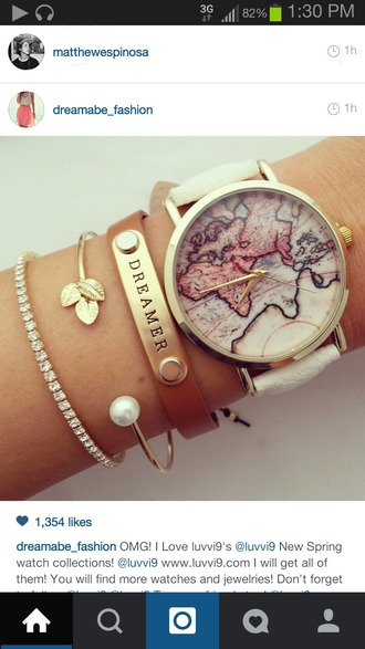 jewels map watch braclets dimonds