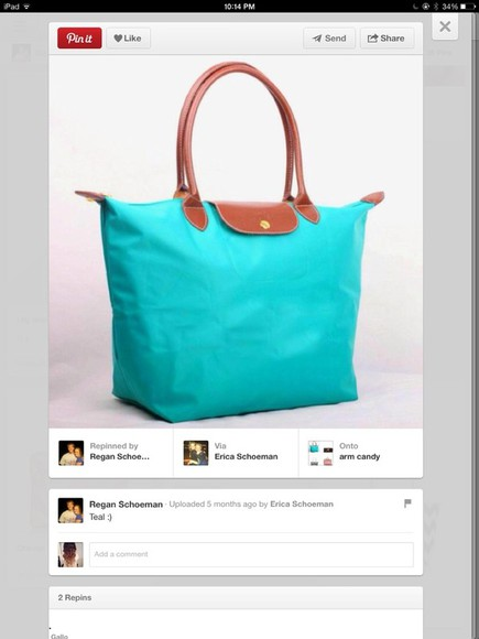 bag longchamp cute lagoon