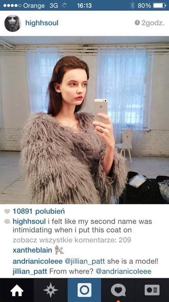 fur coat model fluffy