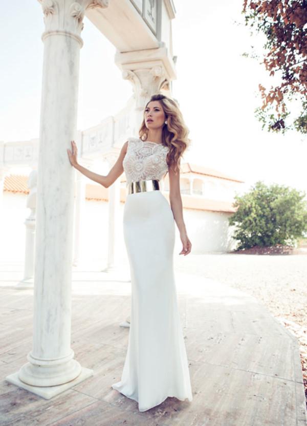 dress prom dress long prom dress white dress