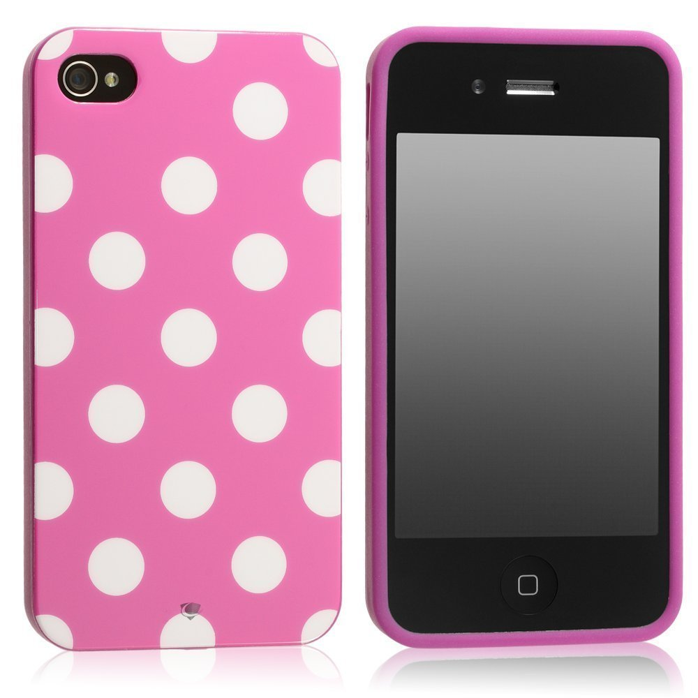 Amazon.com: HM Pink Polka Dot Flex Gel Case for Iphone 4 & 4S: Cell Phones & Accessories