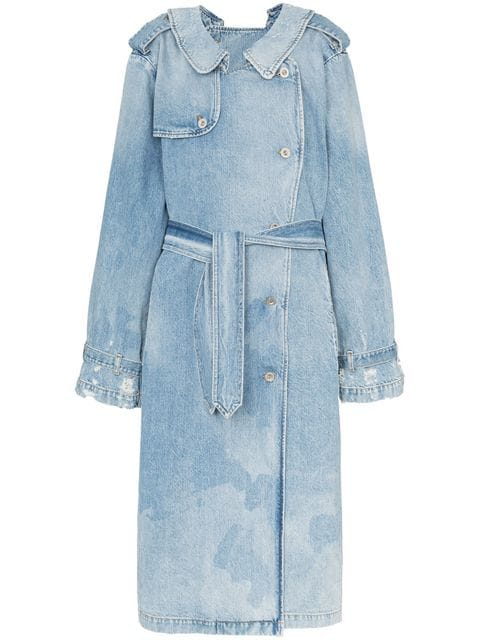 Unravel Project double-sided Denim Trench Coat - Farfetch