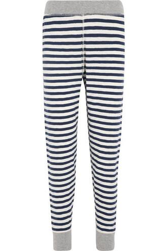 leggings cotton blue pants