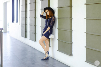 kryzuy blogger romper lace dress navy dress valentino