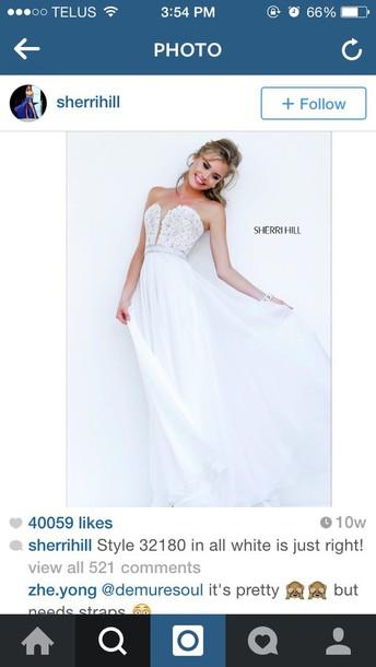 dress white prom sherri hill sherri hill white dress long dress long prom dress prom dress white prom dress sherri hill dresses
