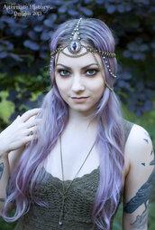 hat,chain,headpiece,crystal headpiece,eye,dragon,purple,unusual,fantasy