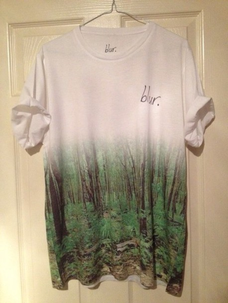 shirt forest blar wantsobad white