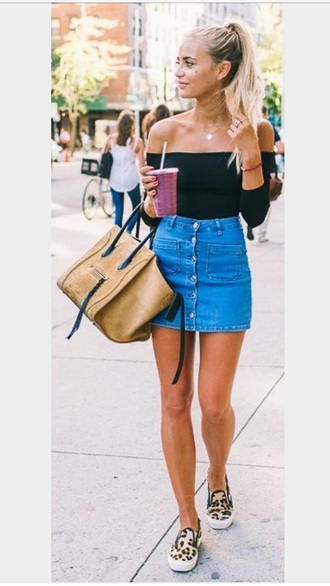 skirt denim blue denim skirt button up denim skirt