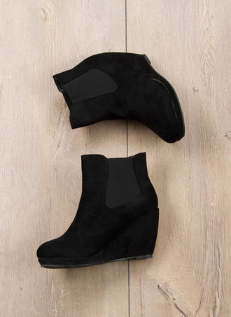 shoes boots balck boots wedges wedge boots